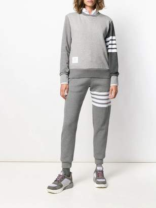 Thom Browne grey relaxed-fit sweatshirt