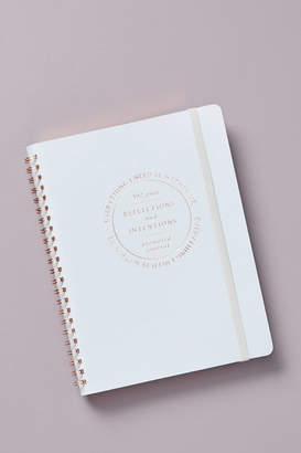 Anthropologie Riley Reflections + Intentions Journal By in Blue Size ALL