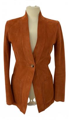 Hermes Orange Leather Jackets