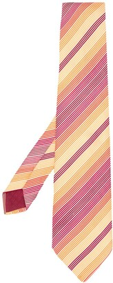 Hermes Pre-Owned 2000's embroidered diagonal stripes tie