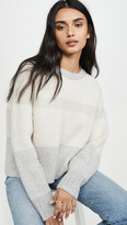 Cashmere Sweater with Big Sleeves and Double Neck