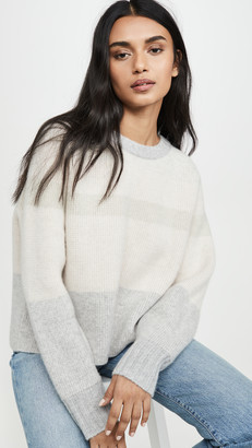 Le Kasha Cashmere Sweater with Big Sleeves and Double Neck