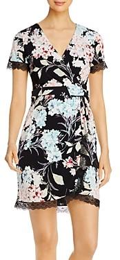 Karl Lagerfeld Paris Floral Print Wrap Dress