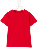 Ralph Lauren embroidered logo T-shirt - kids - Cotton - 6 yrs