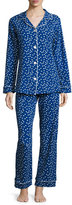 BedHead Demi Dot Long-Sleeve Classic Pajama Set, Blue Pattern
