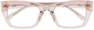 DKNY Transparent Square Frame Glasses
