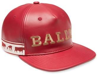 Bally Animals Leather Baseball Cap