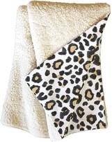 Deny Designs Dash & Ash Leopard Heart Fleece Throw Blanket