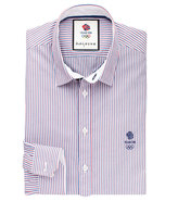 Thomas Pink Peerson Stripe Slim Fit Button Cuff Shirt