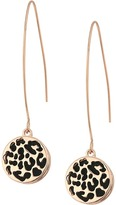 GUESS Disc Earrings with Animal Overlay on Wire Drop