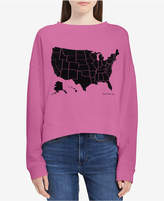 Calvin Klein Jeans Cotton High-Low States Sweatshirt, Created for Macy's