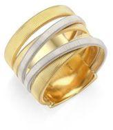 Marco Bicego Masai 18K Yellow & White Gold Five-Strand Ring
