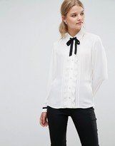 Ted Baker Pleated Frill Long Sleeve Shirt
