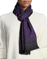 Versace Crazy Maze Wool Scarf