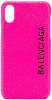 Balenciaga logo-print iPhone X case