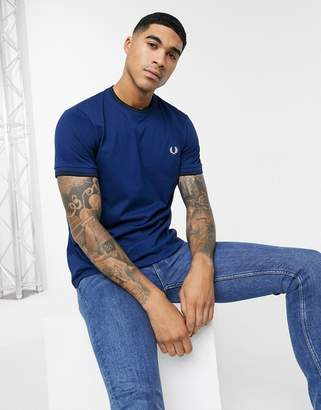 Fred Perry twin tipped ringer t-shirt in navy