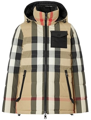 Burberry Hemsworth Reversible Archive Check Down Puffer Coat