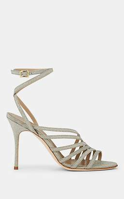 Manolo Blahnik Women's Acante Glitter Multi-Strap Sandals - Gold Leather