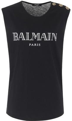 Balmain Cotton-slub tank top