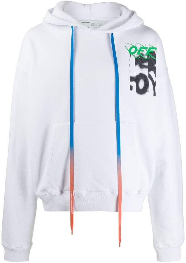 Off-White graffiti logo hoodie