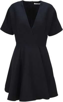 Christian Dior V-Neck Short Sleeve Dress