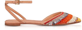 Tory Burch Isle Ankle Strap Multicolor Flat Sandals