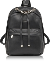 Furla Spy Bag Small Onyx Leather Backpack