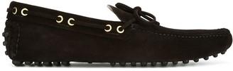 Car Shoe Gold-Tone Trim Loafers