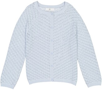 La Redoute Collections Cotton Fine Knit Cardigan with Button Fastening, 3-12 Years