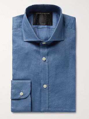 Favourbrook Slim-Fit Cutaway-Collar Slub Linen Shirt