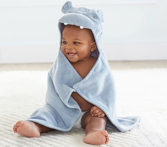 Pottery Barn Kids Hippo Baby Hooded Towel