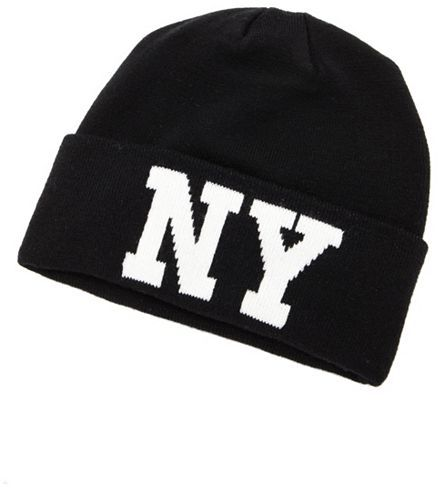 "Charlotte Russe ""NY"" Fold-Over Beanie"