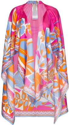 Emilio Pucci Floral Pattern Beach Cover Up