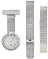 Bermuda Watch Company Annie Apple Empress Interchangeable Silver Mesh Wrist To Nurse Watch