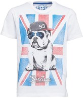 Firetrap Boys Flag Bulldog T-Shirt Bright White
