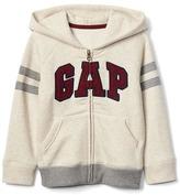 Logo varsity zip hoodie