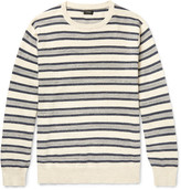 J.Crew Striped Mélange Knitted Cotton Sweater