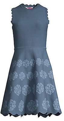 d9b7d672c9bd Kate Spade Women's Flora Scalloped Knit Fit-&-Flare Dress