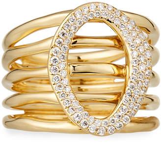 Ippolita 18K Cherish Link Multi-Band Ring w/ Diamonds