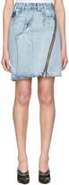 3.1 Phillip Lim Indigo Asymmetric Zip Denim Miniskirt