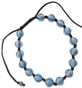 Ileana Makri IaM by Turquoise Enamel and Diamond Bead Bracelet