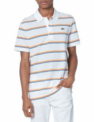 Lacoste Men's Short Sleeve Horizontal Stripe Polo Shirt