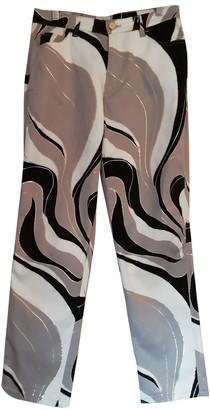 Cerruti Multicolour Cotton Trousers for Women