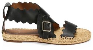 Chloé Lauren Flat Leather Sandals