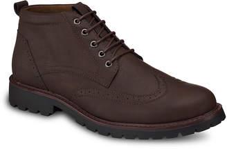 Members Only Men's Casual boots BROWN - Brown Wingtip Chukka Boot - Men