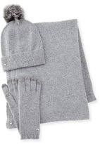 UGG Wool-Blend Gloves, Beanie & Scarf, Gray