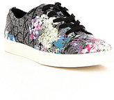 Calvin Klein Imilia & Floral Embossed Leather Lace-Up Sneakers