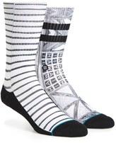 Stance Men's Hoffman Prints Via Lopez Crew Socks