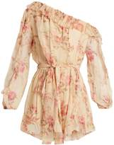Zimmermann Corsair Whimsy floral-print silk playsuit