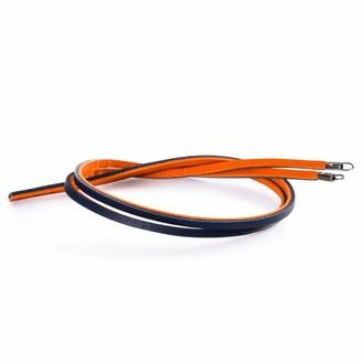 Trollbeads Leather Bracelet Orange/Navy 36 cm / 14.1in